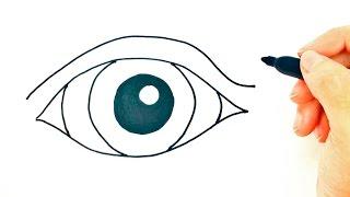 Cómo dibujar un Ojo Fácil paso a paso | Dibujo fácil de Ojo Fácil