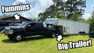 Hooking the FUMMINS up to the BIG TRAILER!! Will It Work!? *Big Progress!* Fummins Build Pt.19