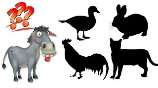 Learn Farm Animals Name and Sound for Kids – Animals Wrong Wooden Slots, Real Animals For Toddlers