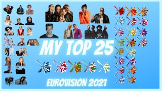 Eurovision 2021 - My TOP 25 (new EE-DK-PT-IT-SM)