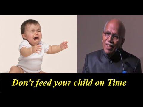 Don't feed your Child on Time - Dr. BM Hegde | Dr. BM Hegde latest speech