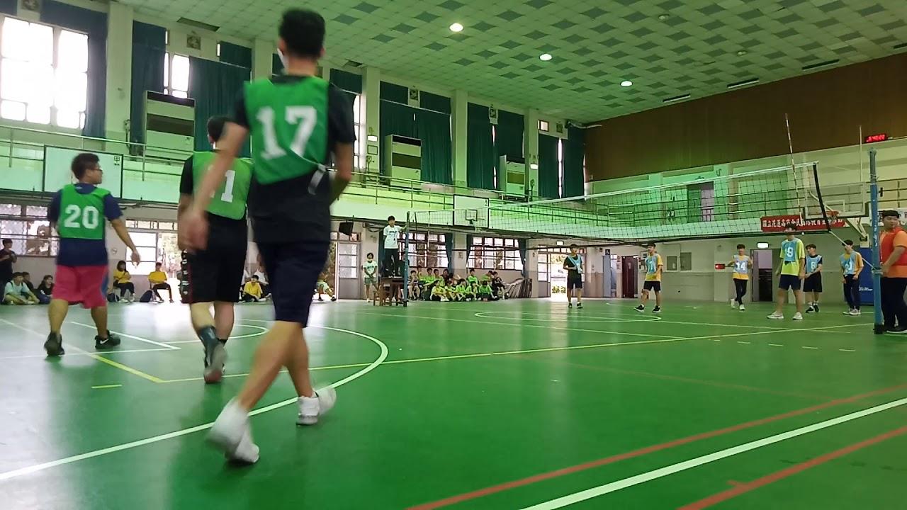 108學年度第二學期 花蓮高商校內排球比賽男生組(冠軍賽) 英二乙vs商二乙 - YouTube