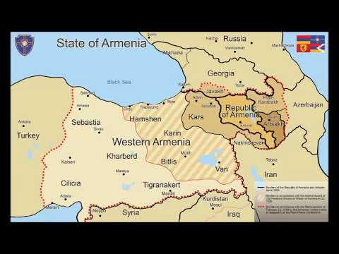 Maps Of The State Of Armenia  - Հայաստան պետության քարտեզները - Карты государства Армения