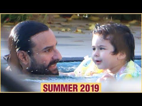 Taimur Ali Khan Enjoys In The Pool With Dad Saif Ali Khan | Summer 2019 Mp3