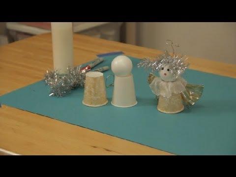 How to Make Homemade Christmas Angels : Christmas Crafts - YouTube