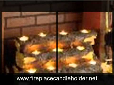 Tealight Log Fireplace Candle Holder Reviews - YouTube