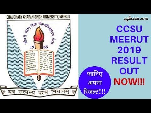 सीसीएस विश्वविद्यालय  2019 परिणाम.. CCS University Result 2019..