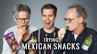My German Parents-In-Law try MEXICAN CANDY for the first time...
