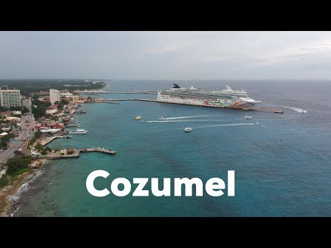 Norwegian Pearl Cruise Ship in Cozumel, Mexico with DJI Spark Drone