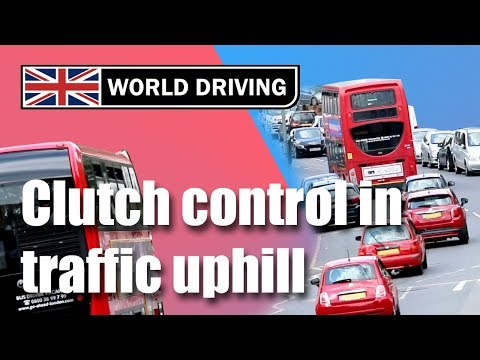 Clutch Control In Traffic Uphill - How To Drive A Manual / Stick Shift Car