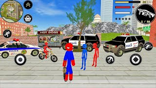 Police Special Agent Game - Spider Stickman Rope Hero Gangstar Crime - Android Gameplay