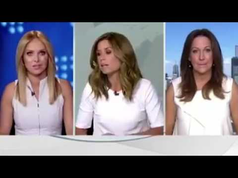 Channel 9 News host has meltdown over same coloured dress