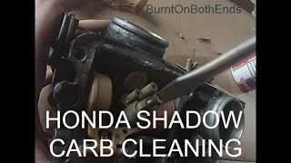Honda Shadow 1100 Carb Jet Cleaning