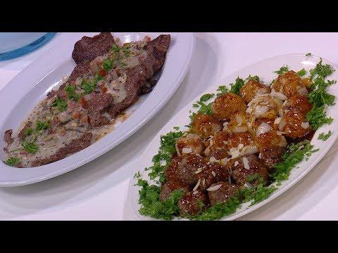 اسكالوب اللحم بصوص الطماطم والمشروم - كرات اللحم حلو و حامض  : عمايل إيديا حلقة كاملة