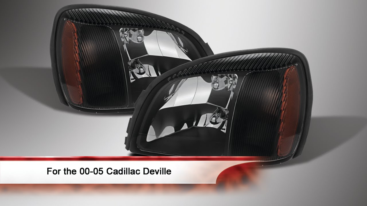 00 05 Cadillac Deville Crystal Headlights