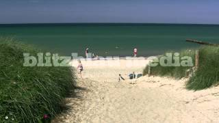 Stock Footage Europe Germany Baltic Sea Beach Ahrenshoop Darss Ostsee Mecklenburg Strand Holiday