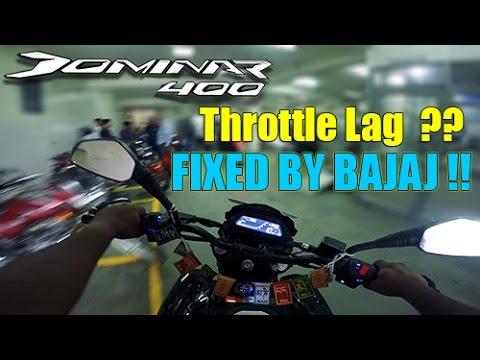 DOMINAR THROTTLE LAG FIXED BY BAJAJ !! | Bajaj Vs RE Customer Service