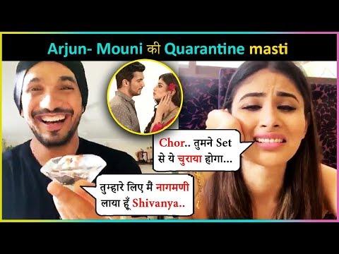 Arjun Bijlani & Mouni Roy Reunites On LIVE Chat   Played Games & Reveals About Naagin 4
