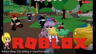 Roblox Meep City adding in more Furniture