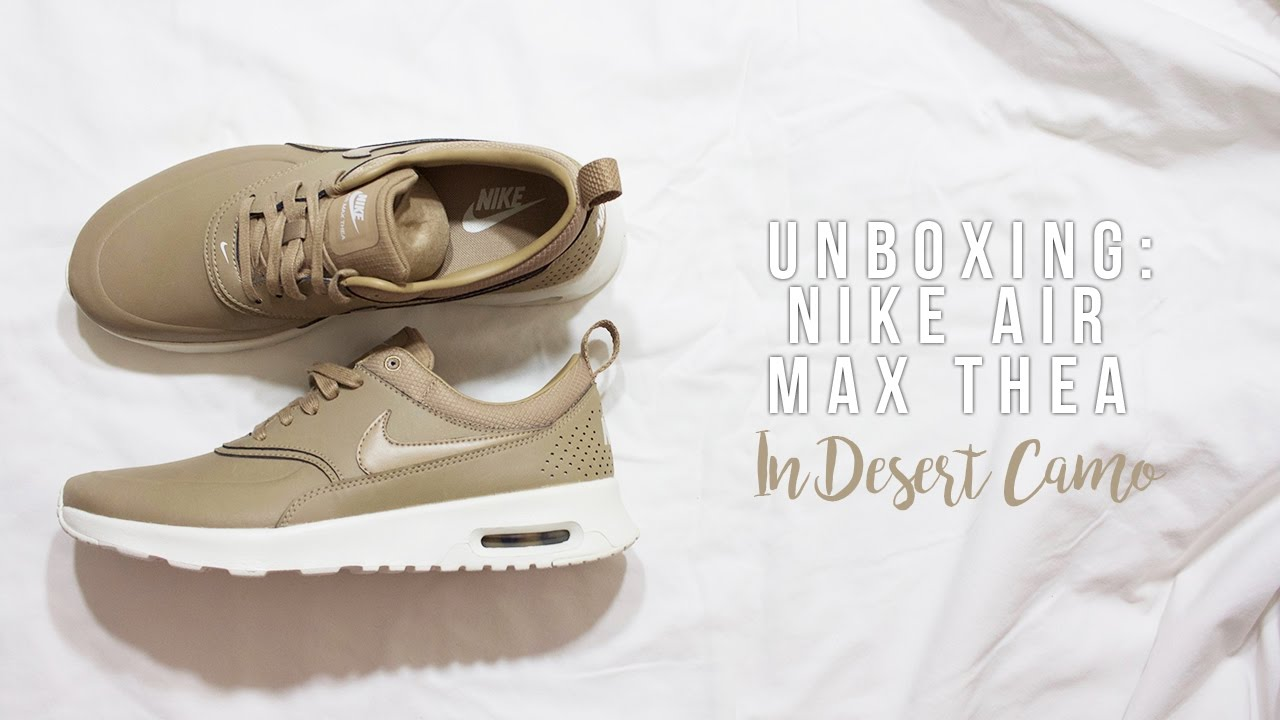 factory price cb29b 13996 UNBOXING  Nike Air Max Thea in Desert Camo