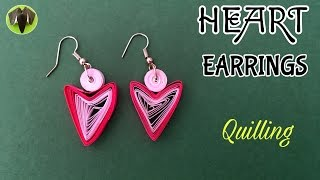 HEART Quilling Earring - Tutorial by Paper Folds