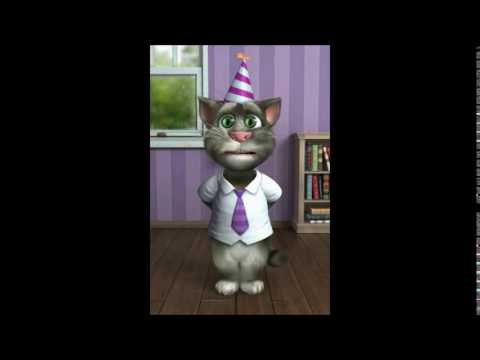 TALKING TOM CAT SINGS HAPPY BIRTHDAY TO CALEB