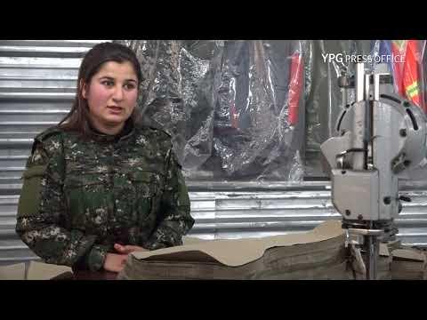 Terzîxaneya Şehîd Şakir ji bo dirûtina cil û bergên YPG û YPJ'ê