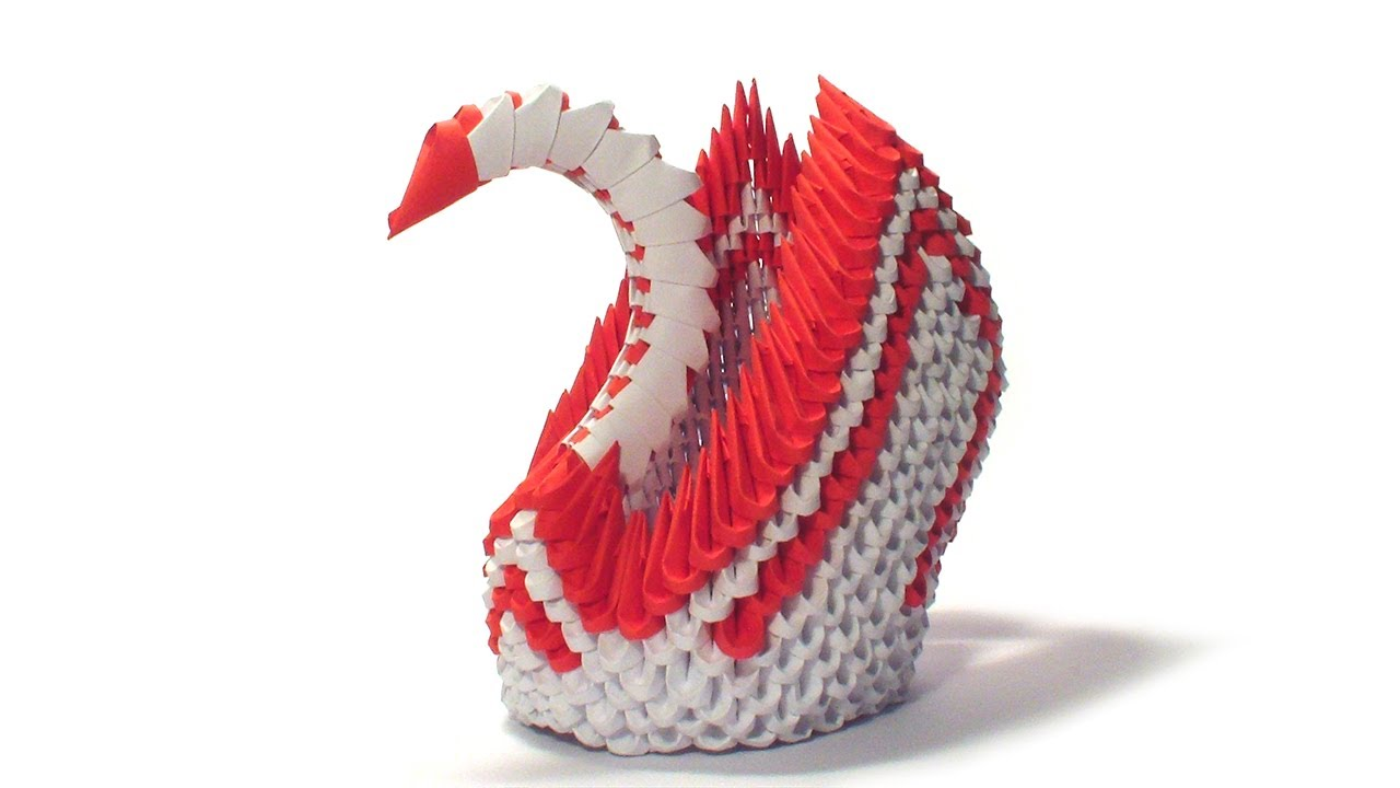 hight resolution of 3d origami red winged swan tutorial youtube 3d modular origami diagrams 3d origami red winged swan
