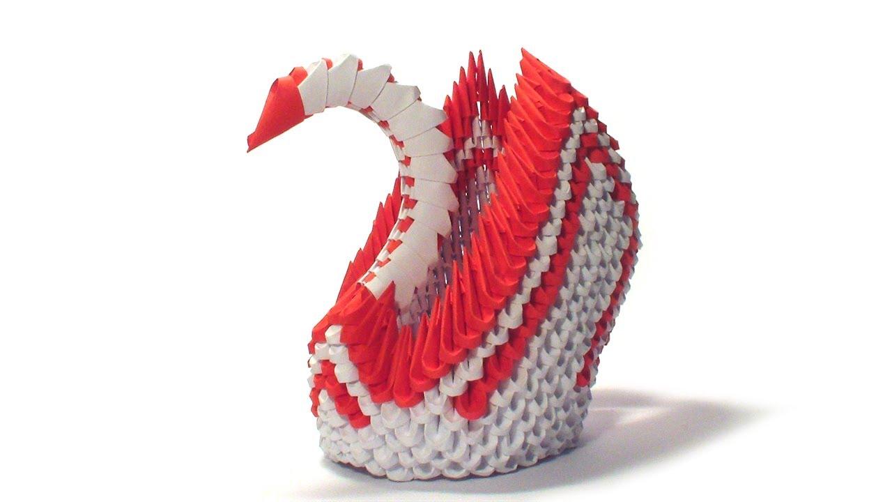 medium resolution of 3d origami red winged swan tutorial youtube 3d modular origami diagrams 3d origami red winged swan