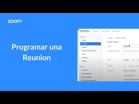 Programar una Reunion