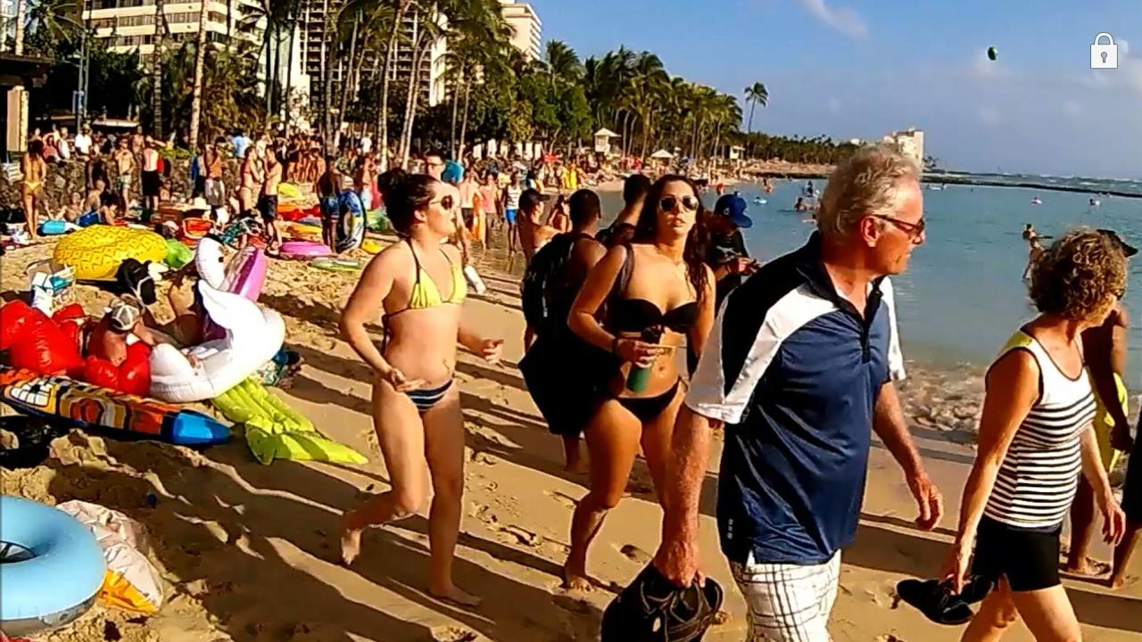 College Spring Break 2017 Party At Waikiki Beach Honolulu Island Of Oahu Hawaii