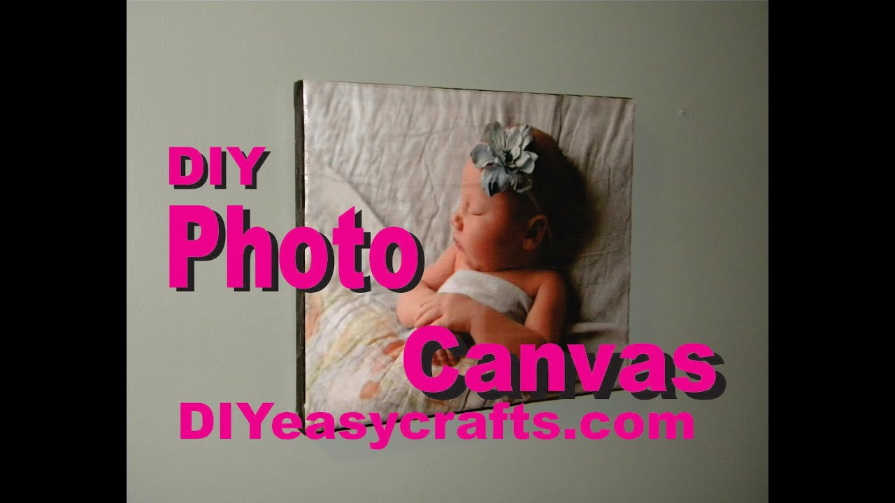 How to make a mod podge photo canvas diy youtube solutioingenieria Gallery