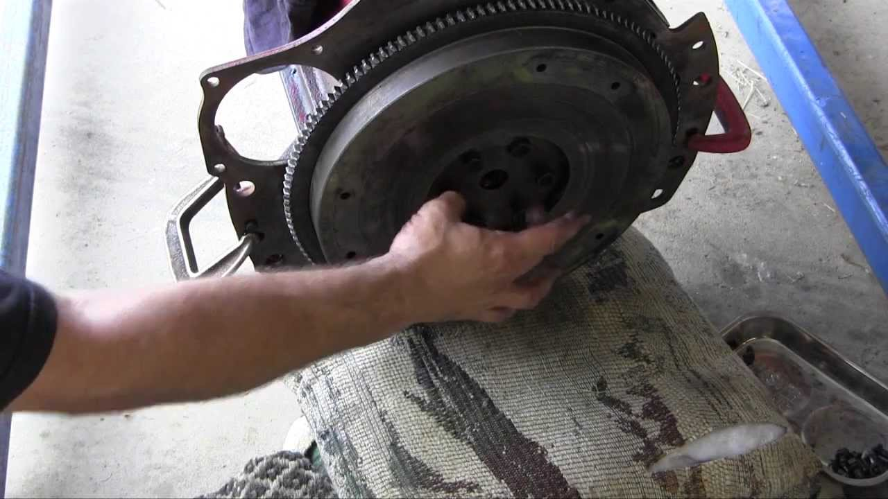 medium resolution of ford jubilee naa tractor engine rebuild part 11 flywheel and clutch installation