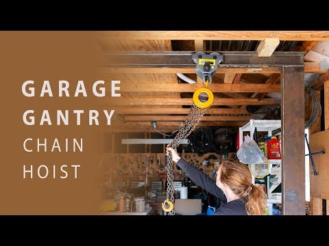 DIY Garage Gantry With Chain Hoist
