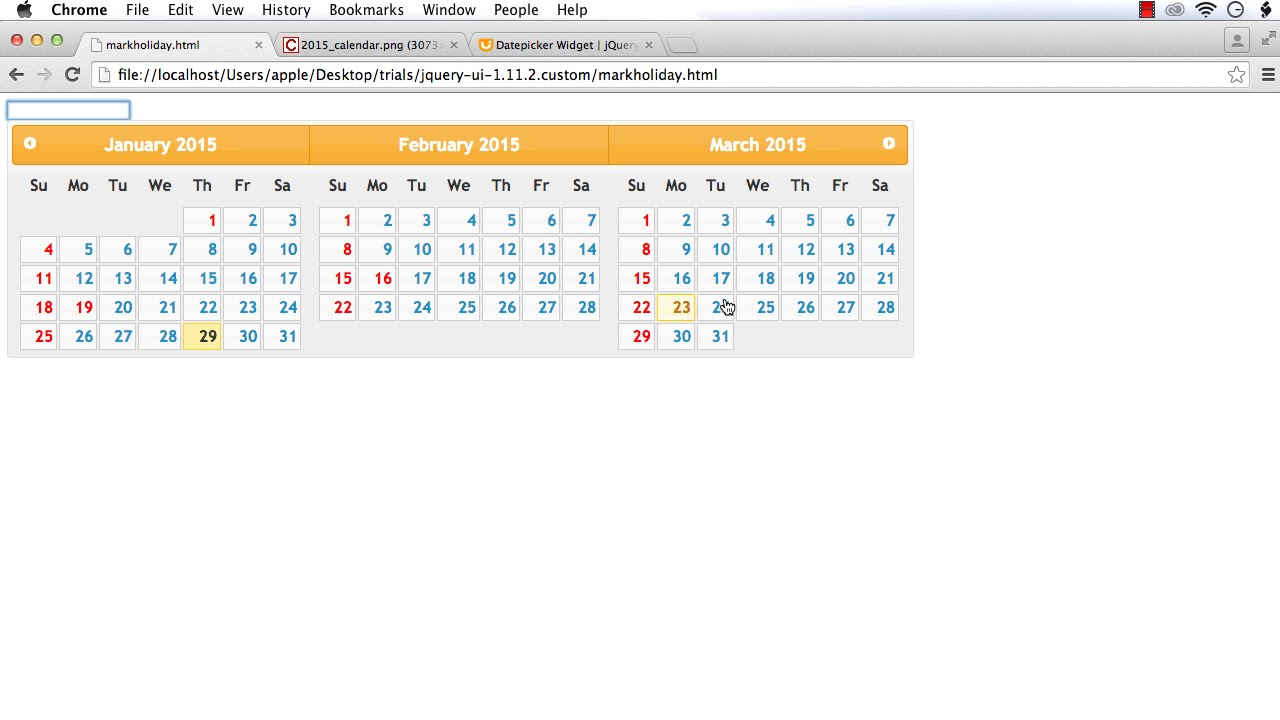 jQuery UI DatePicker: How to Mark Holidays (Style Some of ...