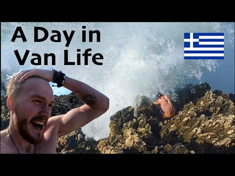 Day in the van life | vlog | Greece | 2021 Pandemic travel