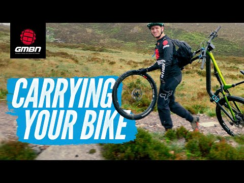 How To Carry Your Mountain Bike | Hike-A-Bike Techniques