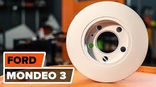 Comment remplacer des disques de frein, plaquettes de frein arrière sur une FORD MONDEO 3