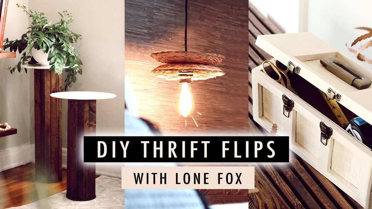 DIY THRIFT FLIP DECOR with Lone Fox