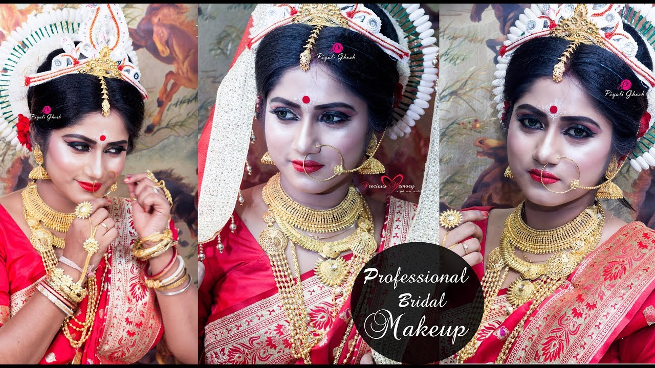 a professional bridal makeup kolkata 2018 | piyali ghosh | new makeup video