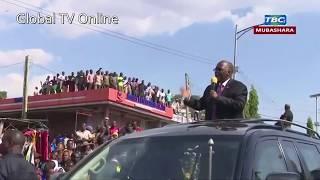 SHANGWE ALILOPIGIWA RAIS MAGUFULI ALIVYOFIKA KWAO MWANZA..!