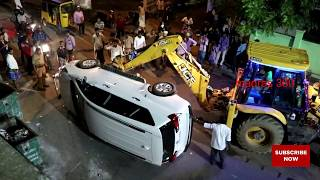Video Car Accident  - Toyota innova crysta Accident - Recovering With JCB Digger - download MP3, 3GP, MP4, WEBM, AVI, FLV Agustus 2018