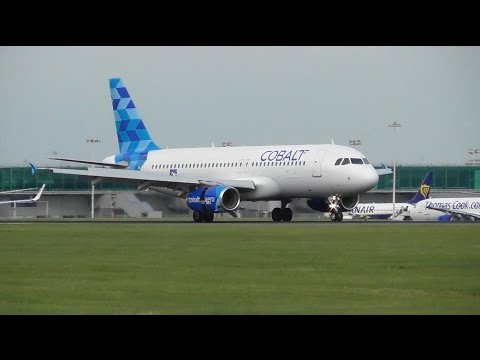 NEW AIRLINE - COBALT AIRLINES INAUGURAL FLIGHT AT LONDON STANSTED AIRPORT