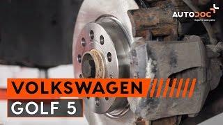 Kaip ir kada reikia keisti priekyje ir gale Stabdžių diskas VW GOLF V (1K1): videopamokos