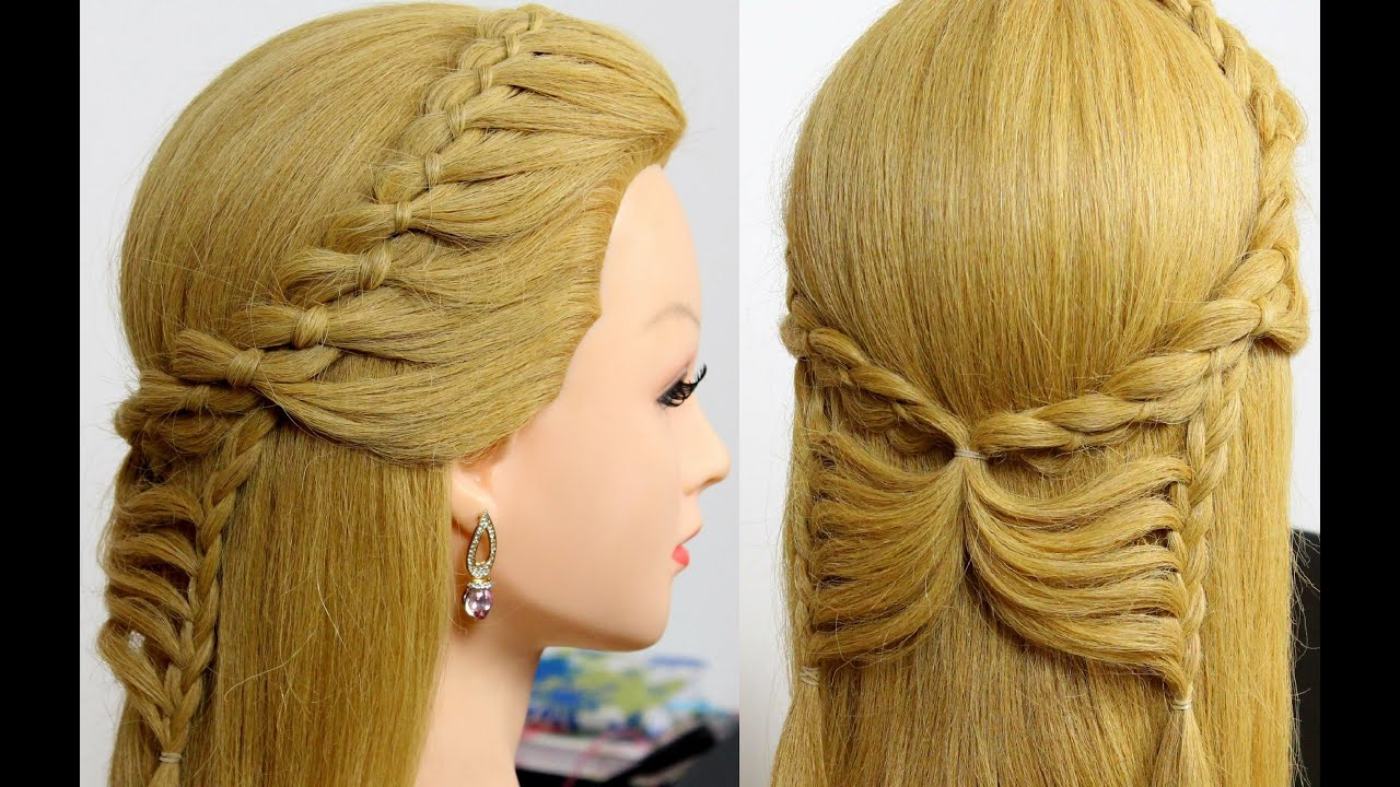 Easy Hairstyles For Long Hair Tutorial. Butterfly Braid With 4 Strand Braid    YouTube