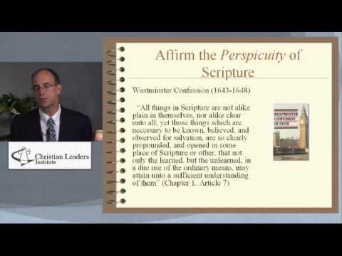Reformed Biblical Hermeneutics - Part 2 - The Necessity of Biblical Hermeneutics