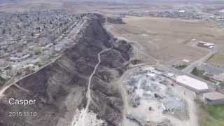 the ridgecrest fire casper wy 2015 from above with a dji phantom 3 professional