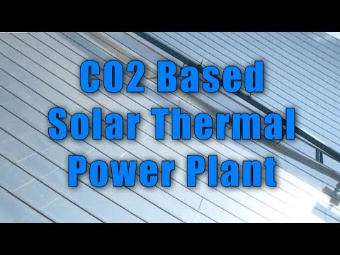 Carbon di oxide Based Solar Thermal Power Plant