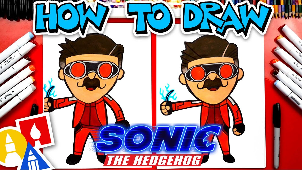 How To Draw Dr Robotnik From Sonic The Hedgehog Movie Stayhome