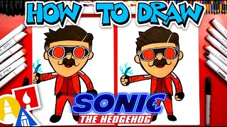 How To Draw Dr Robotnik From Sonic The Hedgehog Movie - #stayhome and draw #withme